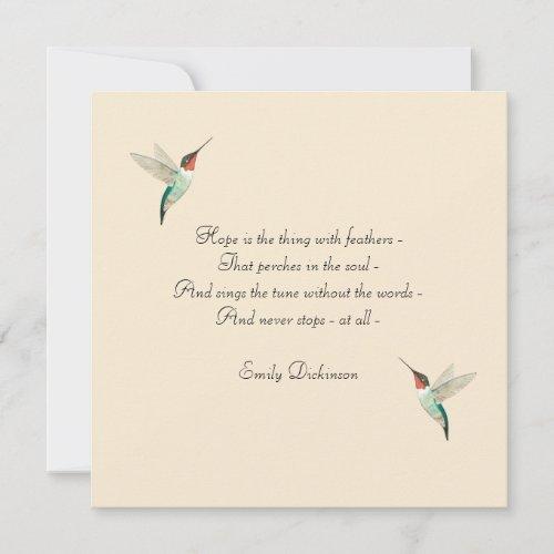 Hope Hummingbird Card