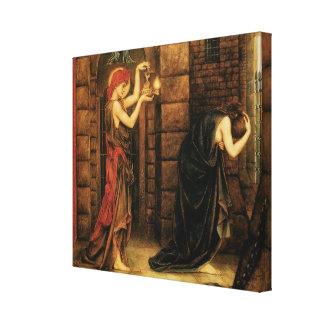 Hope in a Prison of Despair by Evelyn De Morgan Canvas Print