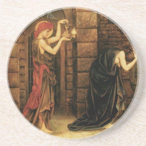 Hope in a Prison of Despair by Evelyn De Morgan Drink Coasters