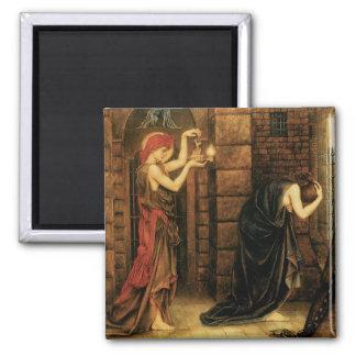 Hope in a Prison of Despair by Evelyn De Morgan Refrigerator Magnets