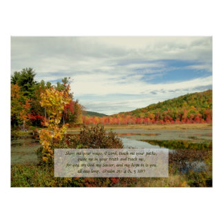 Hope in God, Fall Photography Christian Poster