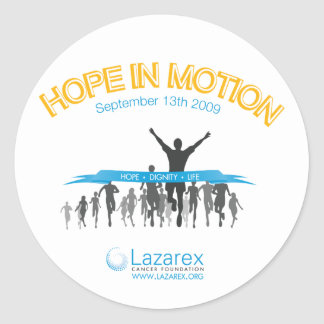 Hope In Motion Classic Round Sticker