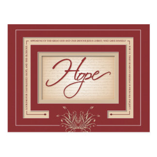 Hope in Red - Titus 2:13 Postcard