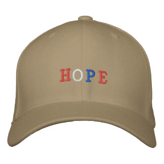 HOPE in Red White and Blue Embroidered Baseball Caps