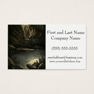 Hope in the Darkness Cave Illustration Business Card