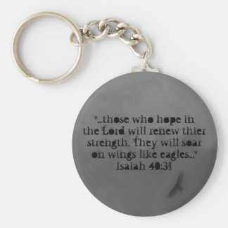 hope in the Lord Basic Round Button Keychain