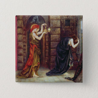 Hope in the Prison of Despair (oil on canvas) Button