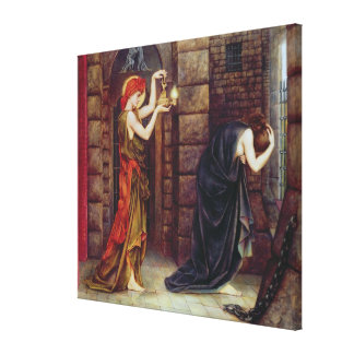 Hope in the Prison of Despair (oil on canvas) Canvas Print