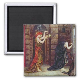 Hope in the Prison of Despair (oil on canvas) Fridge Magnets