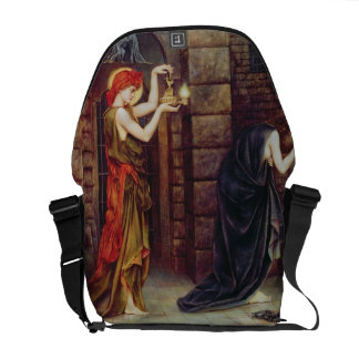 Hope in the Prison of Despair (oil on canvas) Messenger Bags
