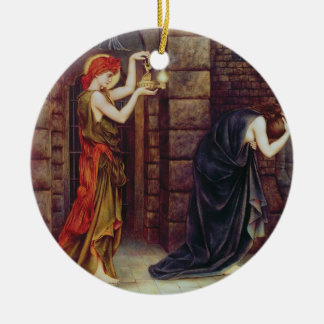 Hope in the Prison of Despair (oil on canvas) Christmas Tree Ornament
