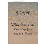 HOPE Inspiration Card Rumi Quote Hawaii