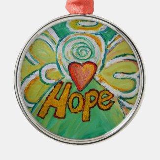 Hope Inspirational Angel Word Ornament