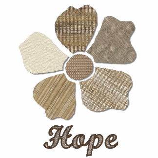 Hope Inspirational Fabric Flower Collage Acrylic Cut Outs