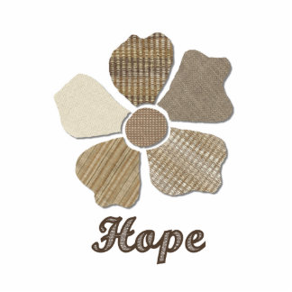 Hope Inspirational Fabric Flower Collage Statuette