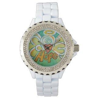 Hope Inspirational Guardian Angel Wrist Watch