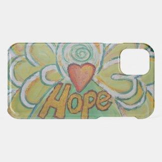 Hope Inspirational Word Angel Custom iPhone Case