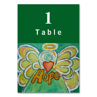 Hope Inspirational Word Angel Custom Table Cards