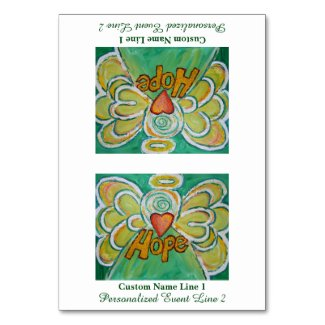 Hope Inspirational Word Angel Table Tent Card