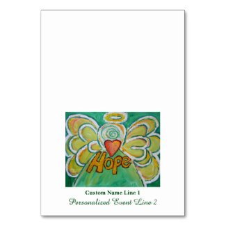 Hope Inspirational Word Angel Table Tent Cards