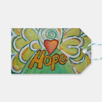 Hope Inspirational Word Custom Card Gift Tags