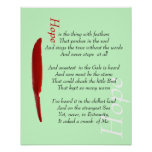 Hope is a thing with feathers motivational poste print