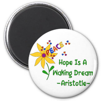 Hope Is A Waking Dream 2 Inch Round Magnet