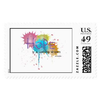 HOPE is a waking dream - Aristotle Postage Stamp