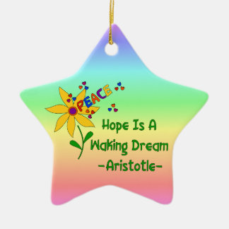 Hope Is A Waking Dream Ceramic Ornament