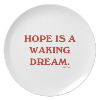 Hope Is A Waking Dream (maroon wisdom) Party Plate