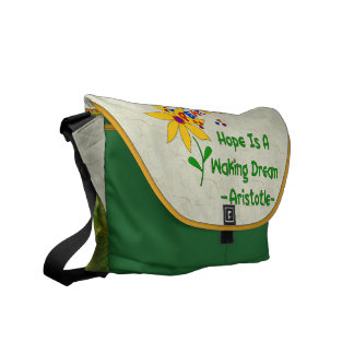 Hope Is A Waking Dream Courier Bags