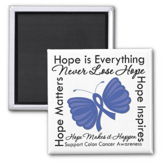 Hope is Everything - Colon Cancer Awareness 2 Inch Square Magnet