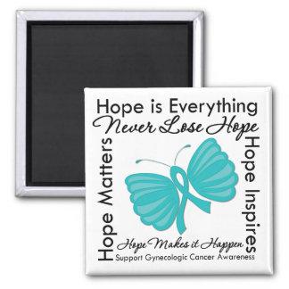 Hope is Everything - Gynecologic Cancer Awareness Fridge Magnets
