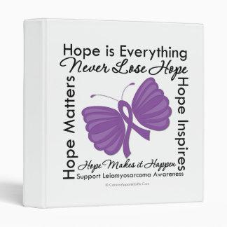 Hope is Everything - Leiomyosarcoma Awareness 3 Ring Binders