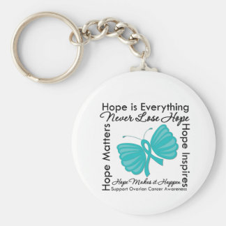 Hope is Everything - Ovarian Cancer Awareness Basic Round Button Keychain