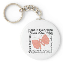 Hope is Everything - Uterine Cancer Awareness Keychain
