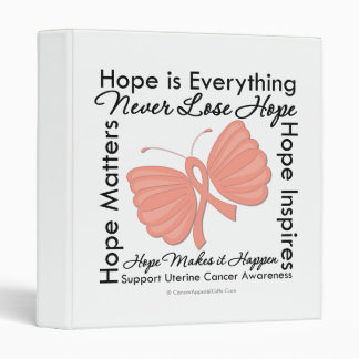 Hope is Everything - Uterine Cancer Awareness Vinyl Binders