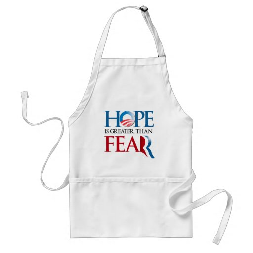 HOPE IS GREATER THAN FEAR ADULT APRON