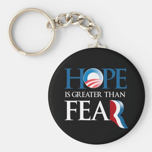 HOPE IS GREATER THAN FEAR BASIC ROUND BUTTON KEYCHAIN