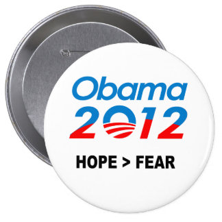 HOPE IS GREATER THAN FEAR - PINBACK BUTTON