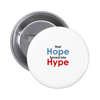 Hope is hype: Anti-Obama Pinback Button