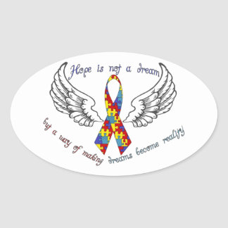 Hope is not a dream oval sticker