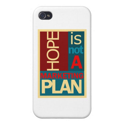 Hope is not a Marketing Plan Cover For iPhone 4