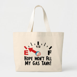 Hope is on Empty - Anti Barack Obama Canvas Bags