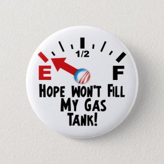 Hope is on Empty - Anti Barack Obama Pinback Button