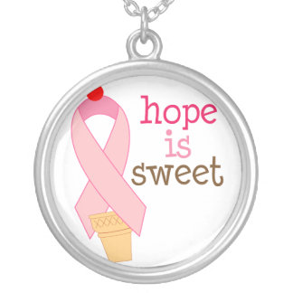 Hope is Sweet Pink Ribbon Necklace