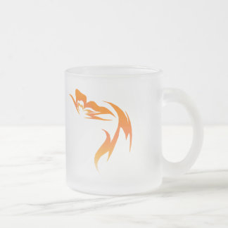 Hope is the Flame Frosted Glass Mug