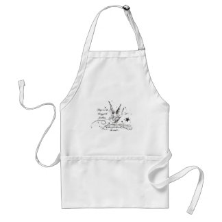 Hope is the Thing With Feathers Adult Apron