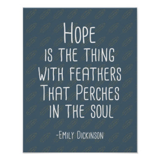 """""""Hope Is The Thing With Feathers"""" Art Print"""