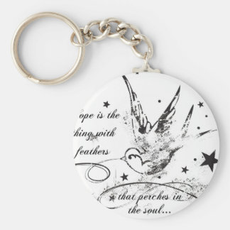 Hope is the Thing With Feathers Keychain